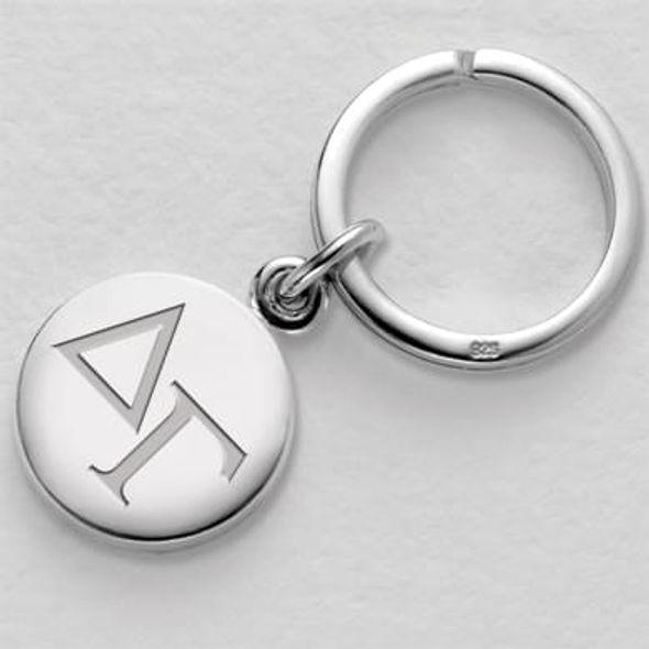 Delta Gamma Sterling Silver Insignia Key Ring - Image 1