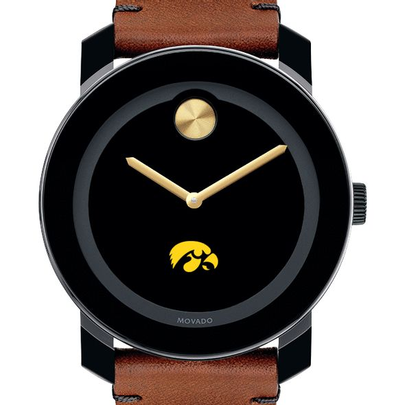 University of Iowa Men's Movado BOLD with Brown Leather Strap