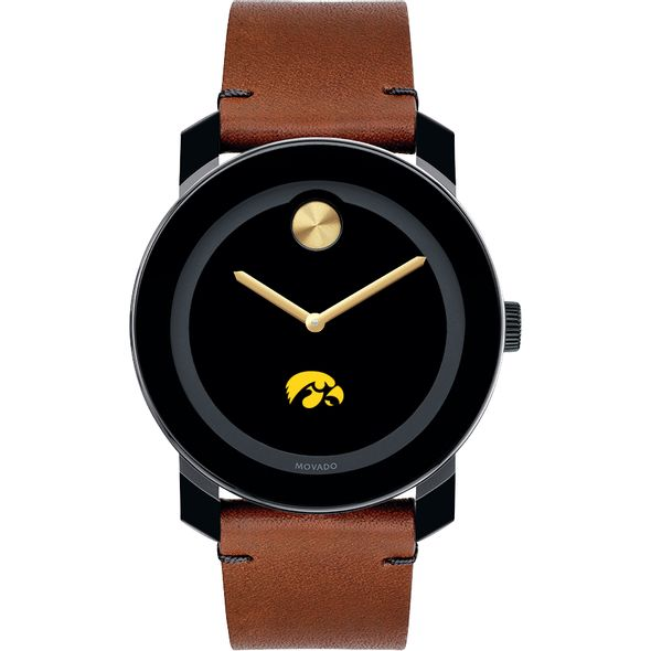 University of Iowa Men's Movado BOLD with Brown Leather Strap - Image 2