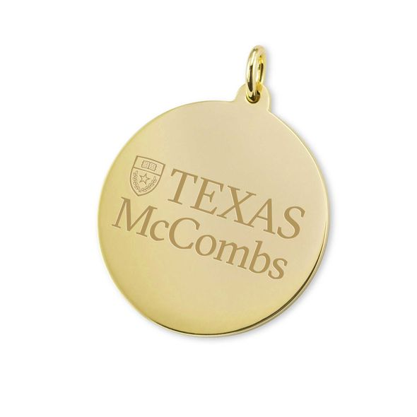 Texas McCombs 14K Gold Charm - Image 1