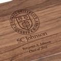 SC Johnson College Solid Walnut Desk Box - Image 3