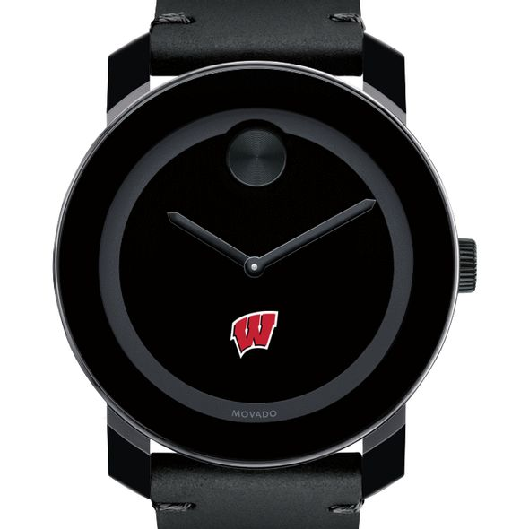 University of Wisconsin Men's Movado BOLD with Leather Strap