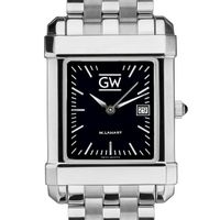 George Washington Men's Black Quad with Bracelet