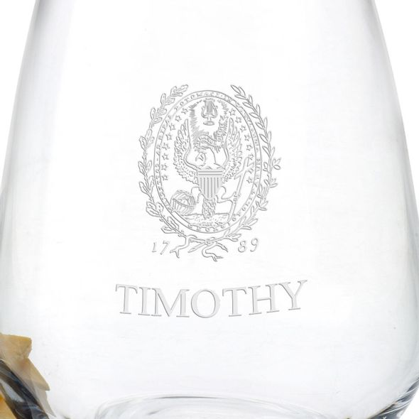 Georgetown University Stemless Wine Glasses - Set of 2 - Image 3