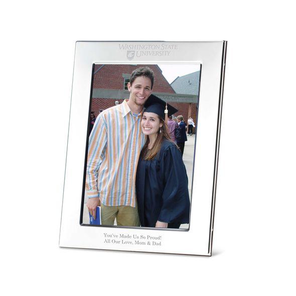 Washington State University Polished Pewter 5x7 Picture Frame