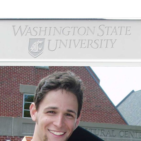 Washington State University Polished Pewter 5x7 Picture Frame - Image 2