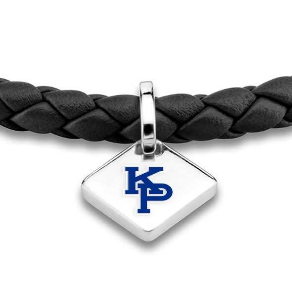 US Merchant Marine Academy Leather Bracelet with Sterling Silver Tag - Black - Image 2