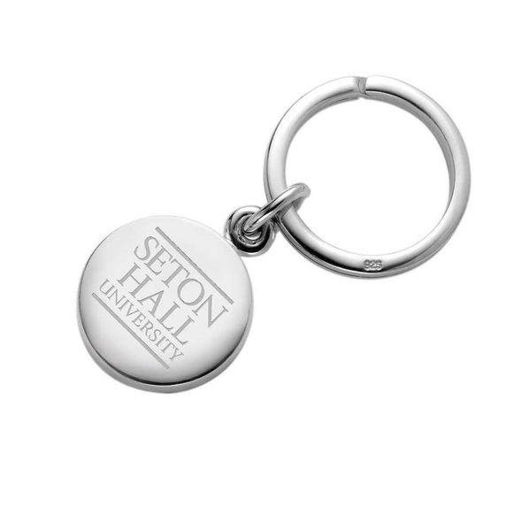Seton Hall Sterling Silver Insignia Key Ring - Image 1