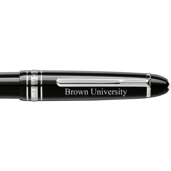 Brown University Montblanc Meisterstück Midsize Ballpoint Pen in Platinum - Image 2