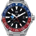 Seton Hall Men's TAG Heuer Automatic GMT Aquaracer with Black Dial and Blue & Red Bezel - Image 1