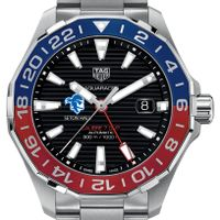 Seton Hall Men's TAG Heuer Automatic GMT Aquaracer with Black Dial and Blue & Red Bezel