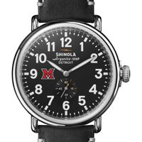 Miami University Shinola Watch, The Runwell 47mm Black Dial