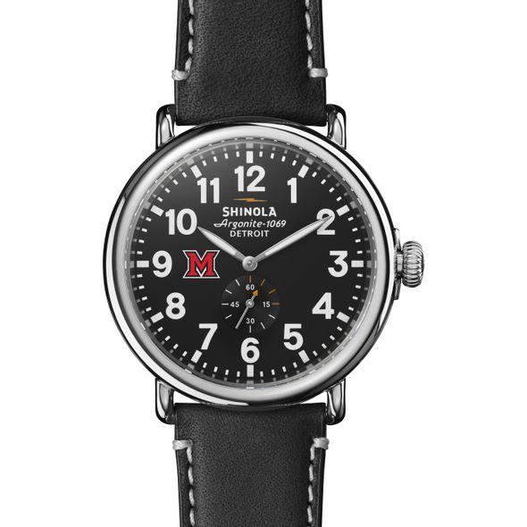 Miami University Shinola Watch, The Runwell 47mm Black Dial - Image 2
