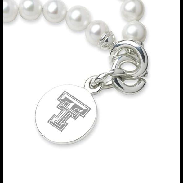 Texas Tech Pearl Bracelet with Sterling Silver Charm - Image 2
