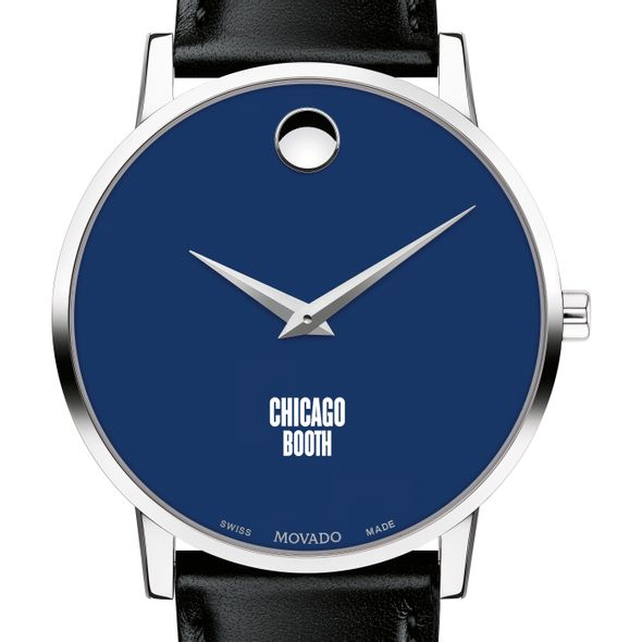 Chicago Booth Men's Movado Museum with Blue Dial & Leather Strap - Image 1