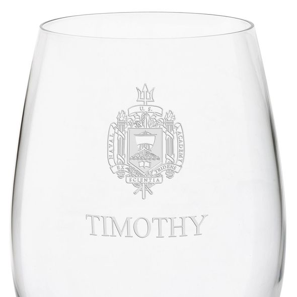 US Naval Academy Red Wine Glasses - Set of 4 - Image 3