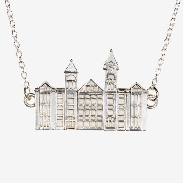 Auburn Sterling Silver Campus Architecture Necklace by Kyle Cavan