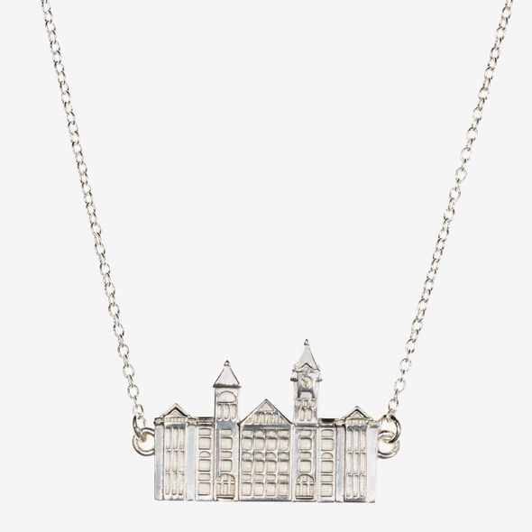 Auburn Sterling Silver Campus Architecture Necklace by Kyle Cavan - Image 2