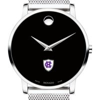 Holy Cross Men's Movado Museum with Mesh Bracelet