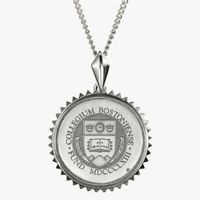 Boston College Sterling Silver Sunburst Necklace by Kyle Cavan
