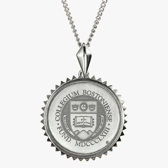 Boston College Sterling Silver Sunburst Necklace by Kyle Cavan