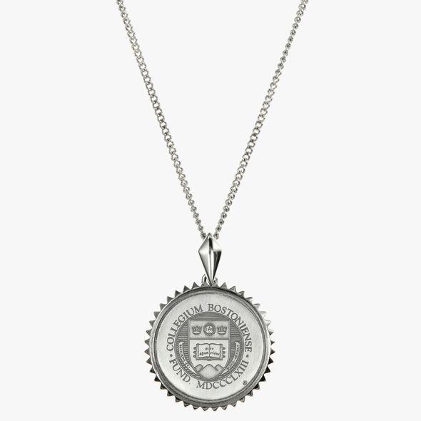 Boston College Sterling Silver Sunburst Necklace by Kyle Cavan - Image 2