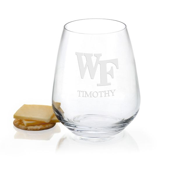 Wake Forest Stemless Wine Glasses - Set of 2 - Image 1