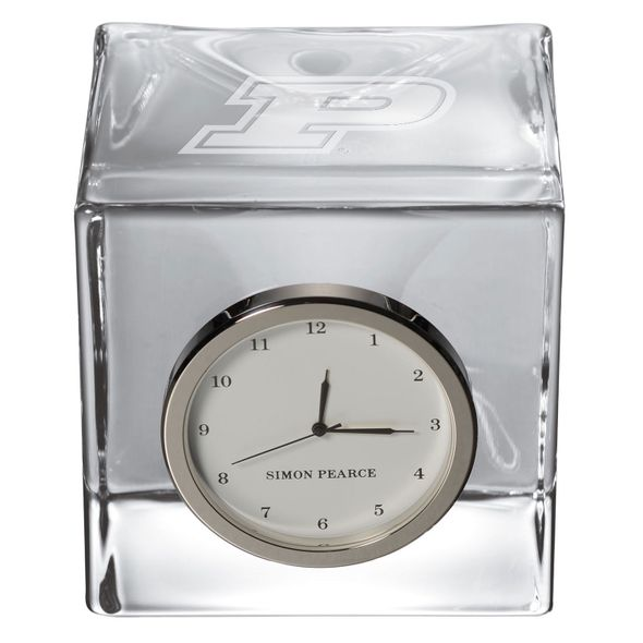 Purdue University Glass Desk Clock by Simon Pearce - Image 2
