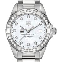 Brown University W's TAG Heuer Steel Aquaracer with MOP Dia Dial & Bezel