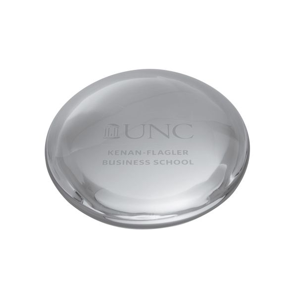 UNC Kenan-Flagler Glass Dome Paperweight by Simon Pearce