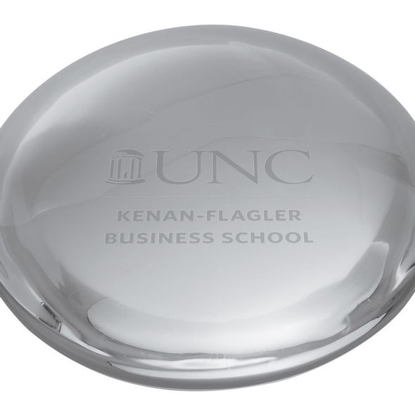 UNC Kenan-Flagler Glass Dome Paperweight by Simon Pearce - Image 2