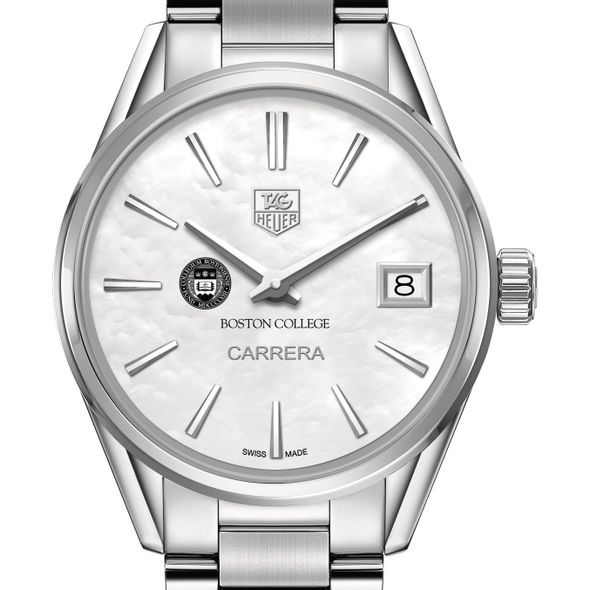 Boston College Women's TAG Heuer Steel Carrera with MOP Dial - Image 1