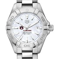 Auburn University Women's TAG Heuer Steel Aquaracer w MOP Dial