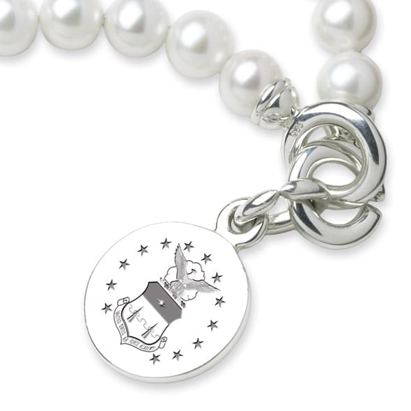 Air Force Academy Pearl Bracelet with Sterling Charm - Image 2