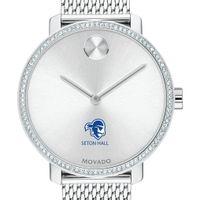 Seton Hall Women's Movado Bold with Crystal Bezel & Mesh Bracelet