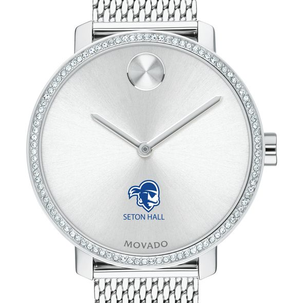 Seton Hall Women's Movado Bold with Crystal Bezel & Mesh Bracelet - Image 1