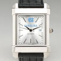 North Carolina Men's Collegiate Watch with Leather Strap