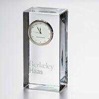 Berkeley Haas Tall Glass Desk Clock by Simon Pearce