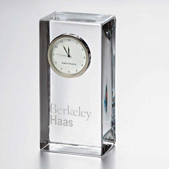 Berkeley Haas Tall Glass Desk Clock by Simon Pearce - Image 1