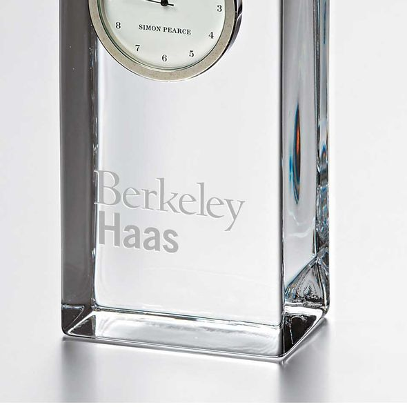 Berkeley Haas Tall Glass Desk Clock by Simon Pearce - Image 2