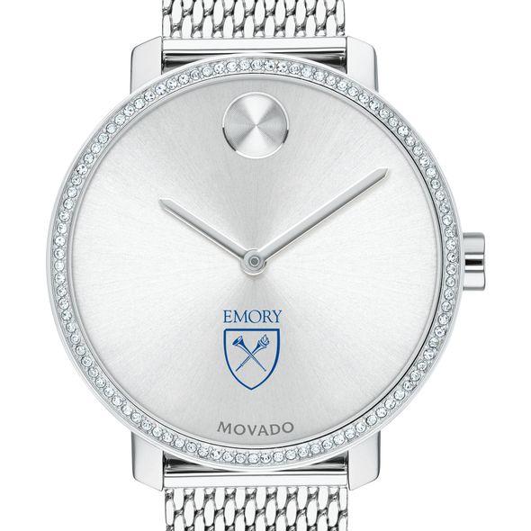 Emory Women's Movado Bold with Crystal Bezel & Mesh Bracelet
