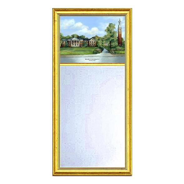 Miami University Eglomise Mirror with Gold Frame