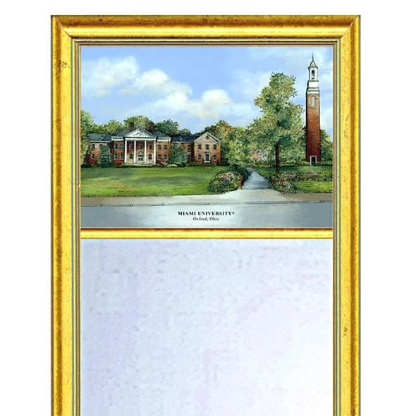 Miami University Eglomise Mirror with Gold Frame - Image 2