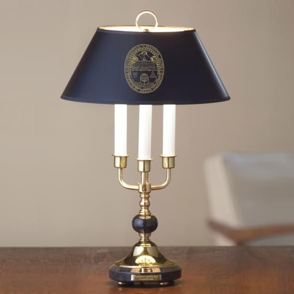 University of Vermont Lamp in Brass & Marble