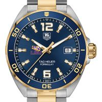 LSU Men's TAG Heuer Two-Tone Formula 1 with Blue Dial & Bezel