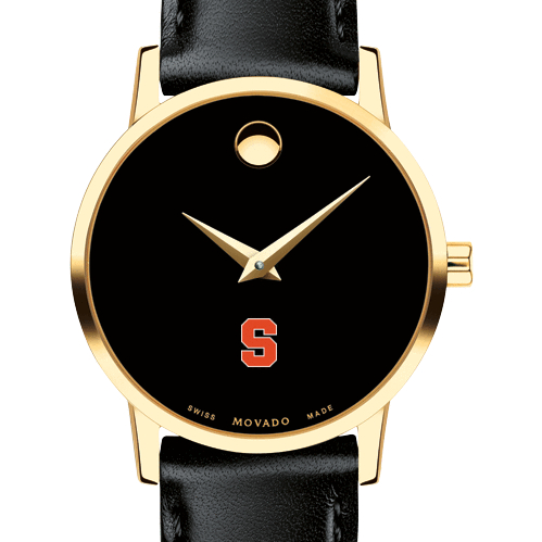 Syracuse University Women's Movado Gold Museum Classic Leather