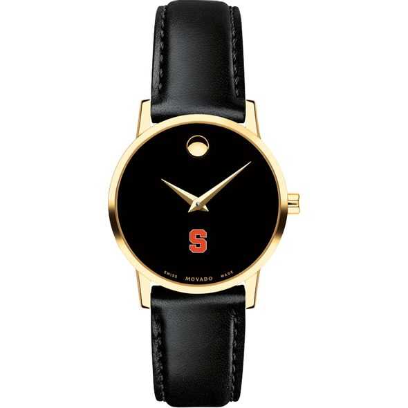 Syracuse University Women's Movado Gold Museum Classic Leather - Image 2