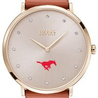 Southern Methodist University Women's BOSS Champagne with Leather from M.LaHart