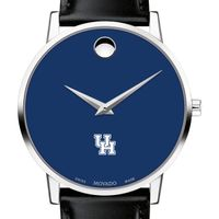 University of Houston Men's Movado Museum with Blue Dial & Leather Strap