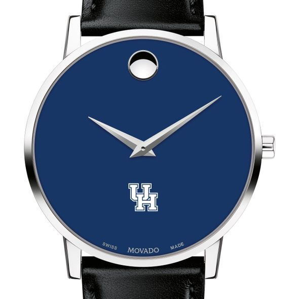 University of Houston Men's Movado Museum with Blue Dial & Leather Strap - Image 1